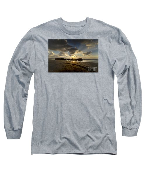 Safe Shore 04 Long Sleeve T-Shirt by Arik Baltinester