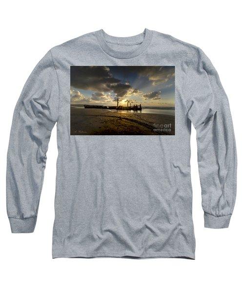Long Sleeve T-Shirt featuring the photograph Safe Shore 04 by Arik Baltinester