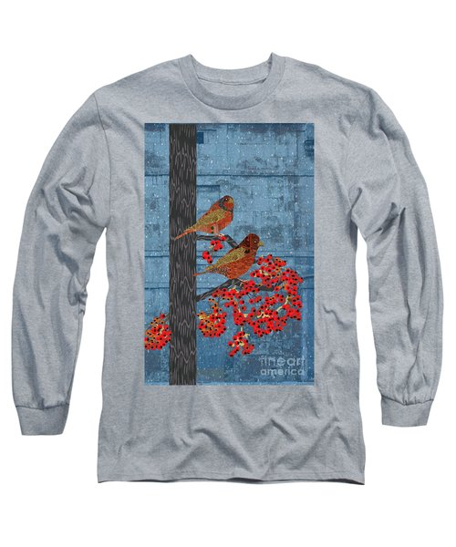 Sagebrush Sparrow Long Long Sleeve T-Shirt by Kim Prowse