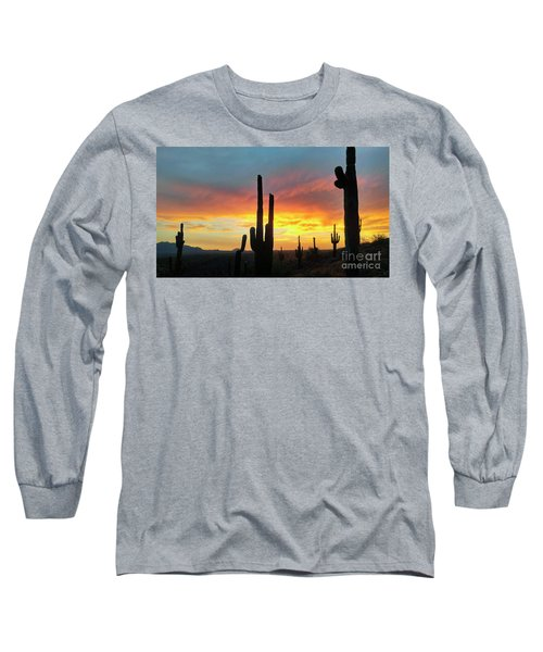 Long Sleeve T-Shirt featuring the photograph Saguaro Sunset by Anthony Citro