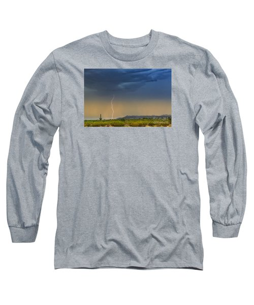Saguaro With Lightning Long Sleeve T-Shirt