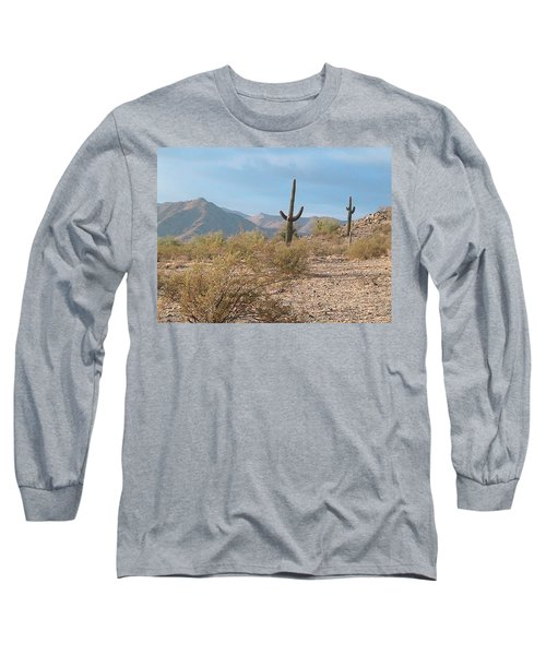 Saguaros On A Hillside Long Sleeve T-Shirt