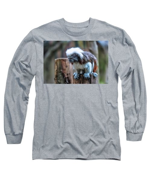 Long Sleeve T-Shirt featuring the photograph Saguinus Oedipus  by Traven Milovich