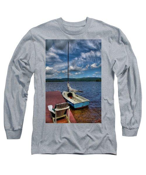 Sailboat On First Lake Long Sleeve T-Shirt