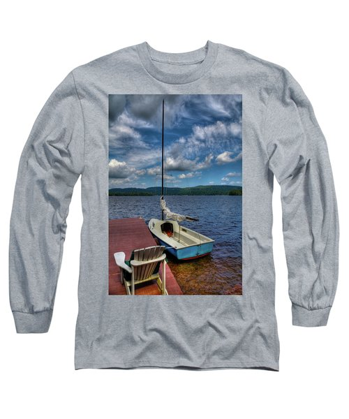 Sailboat On First Lake Long Sleeve T-Shirt