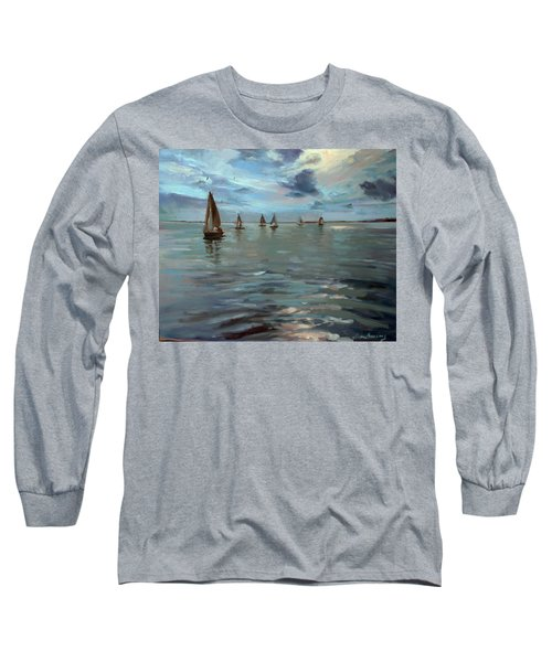 Sailboats On The Chesapeake Bay Long Sleeve T-Shirt