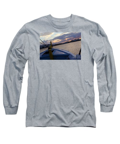 Long Sleeve T-Shirt featuring the photograph Sailing by Haleh Mahbod