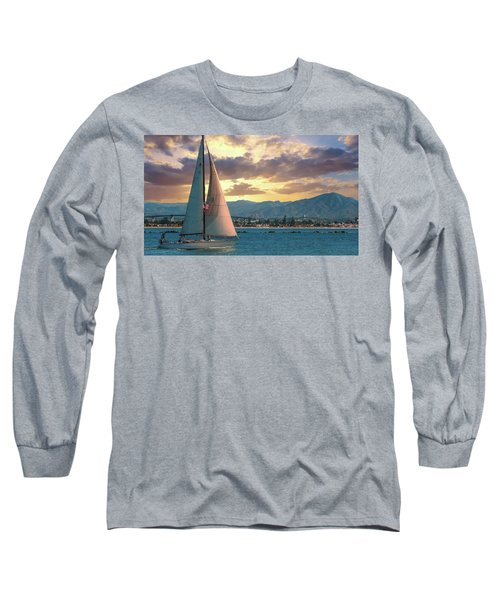 Sailing In San Diego Long Sleeve T-Shirt