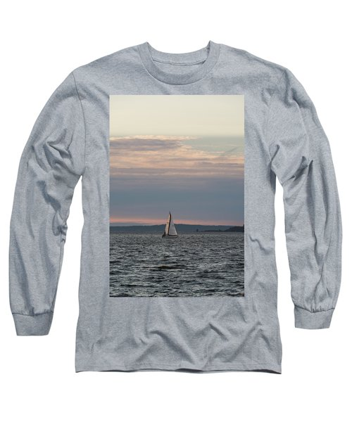Sailing In The Puget Sound Long Sleeve T-Shirt