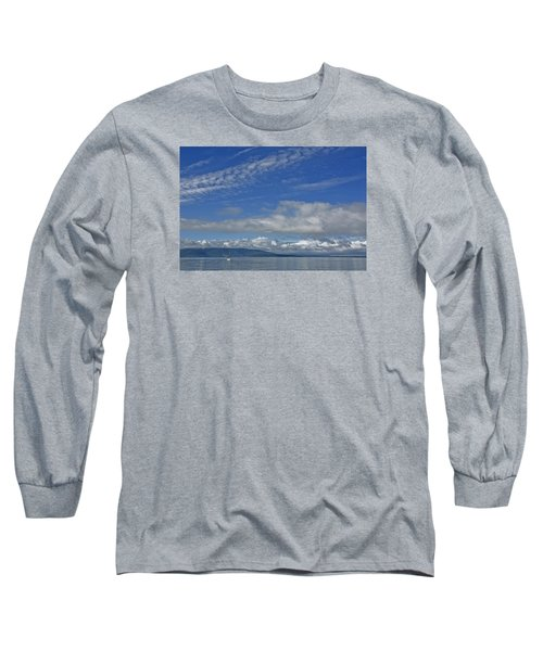 Sailing In The San Juan Islands Long Sleeve T-Shirt
