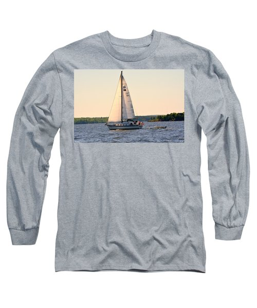 Sailing On Lake Murray Sc Long Sleeve T-Shirt