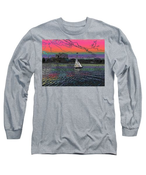 Sailing South Lake Union Long Sleeve T-Shirt by Tim Allen
