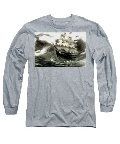 Sailing The Stormy Seas Long Sleeve T-Shirt