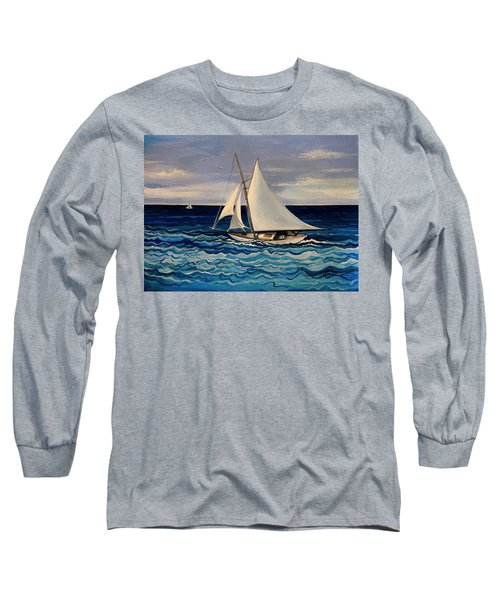 Sailing With The Waves Long Sleeve T-Shirt