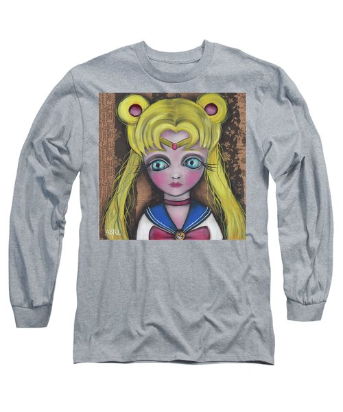 Sailor Moon Long Sleeve T-Shirt by Abril Andrade Griffith