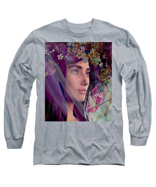 Saint Rose Of Lima 4 Long Sleeve T-Shirt by Suzanne Silvir