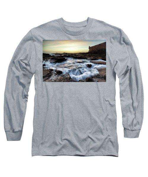 Long Sleeve T-Shirt featuring the photograph Saint Sebastian Castle Cadiz Spain by Pablo Avanzini
