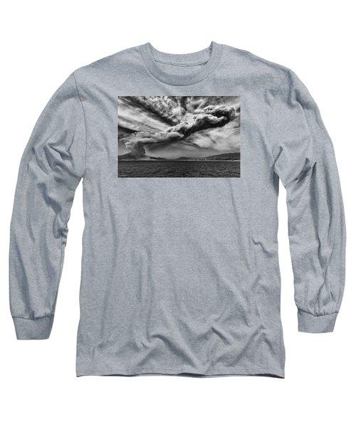 Sakurajima Volcano Long Sleeve T-Shirt by Hayato Matsumoto
