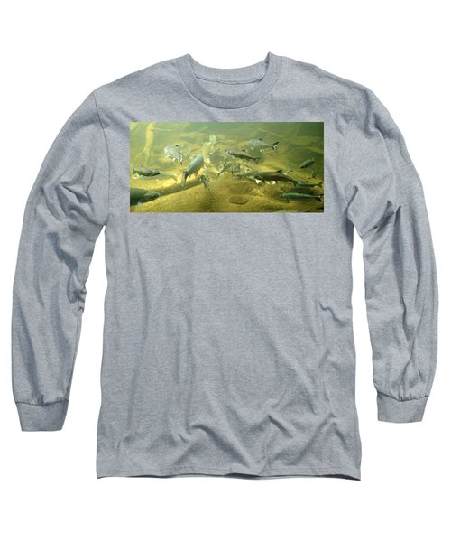 Long Sleeve T-Shirt featuring the photograph Salmon And Sturgeon by Katie Wing Vigil