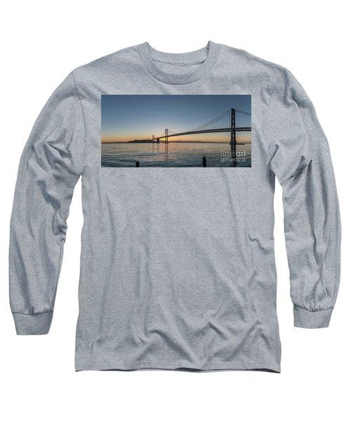 San Francisco Bay Brdige Just Before Sunrise Long Sleeve T-Shirt