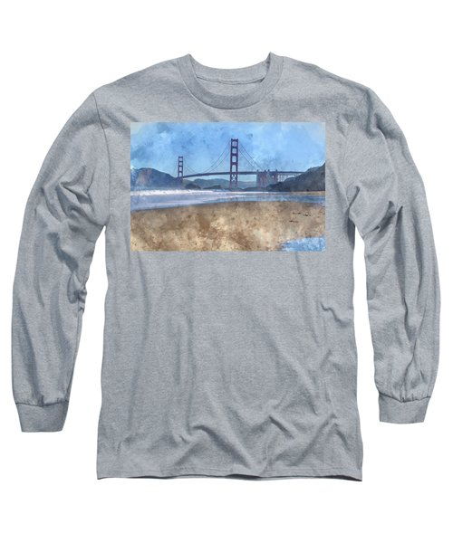 San Francisco Golden Gate Bridge In California Long Sleeve T-Shirt