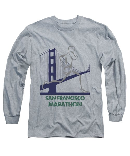 San Francisco Marathon2 Long Sleeve T-Shirt by Joe Hamilton