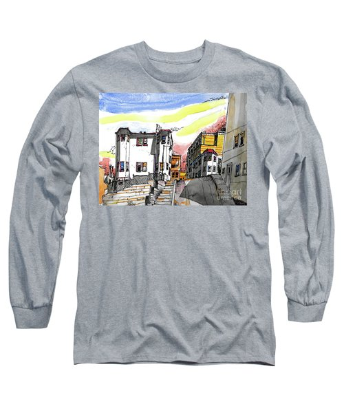 Long Sleeve T-Shirt featuring the painting San Francisco Side Street by Terry Banderas