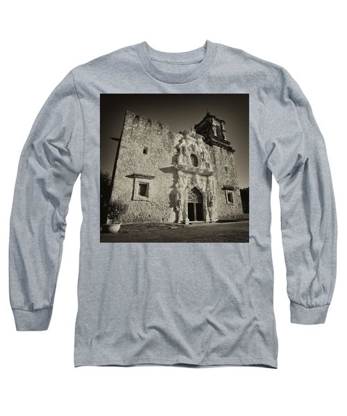 Long Sleeve T-Shirt featuring the photograph San Jose Mission - San Antonio by Stephen Stookey