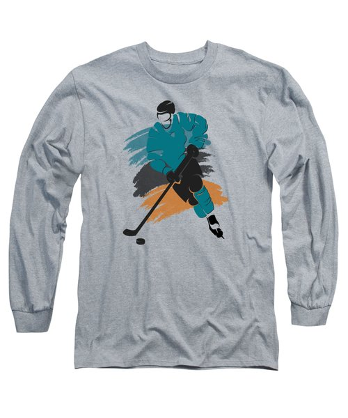 San Jose Sharks Player Shirt Long Sleeve T-Shirt by Joe Hamilton