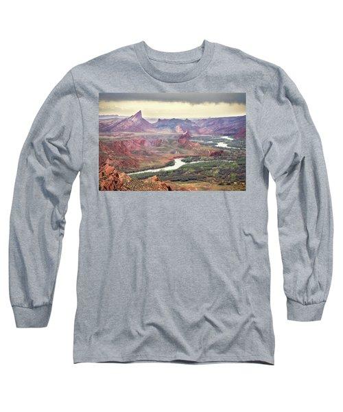 San Juan River And Mule's Ear Long Sleeve T-Shirt