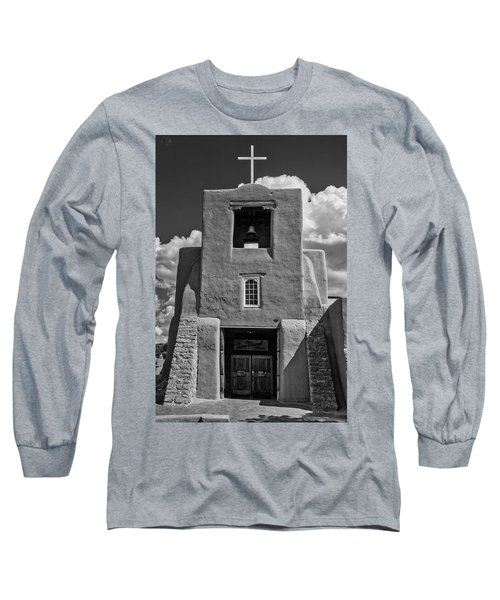 San Miguel Mission Black And White Long Sleeve T-Shirt