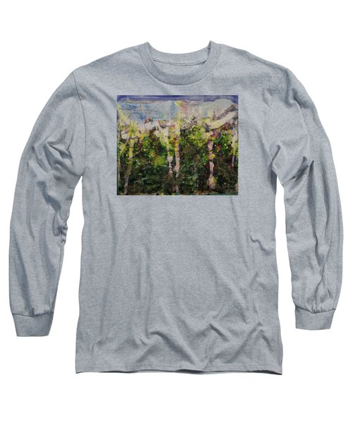 Long Sleeve T-Shirt featuring the painting Sanative by Ron Richard Baviello