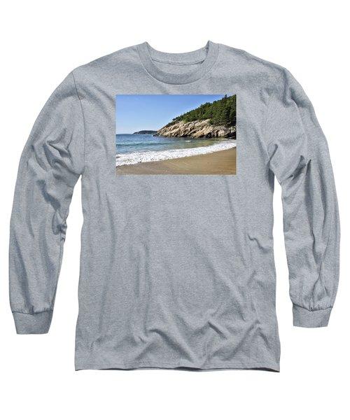 Sand Beach - Acadia National Park - Maine Long Sleeve T-Shirt by Brendan Reals