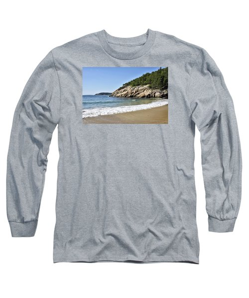 Sand Beach - Acadia National Park - Maine Long Sleeve T-Shirt