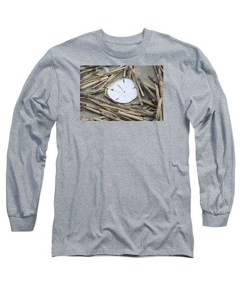 Sand Dollar Salad Long Sleeve T-Shirt by Tammy Schneider
