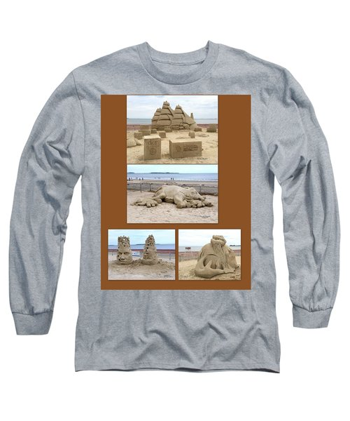 Sand Sculpture Collage Long Sleeve T-Shirt