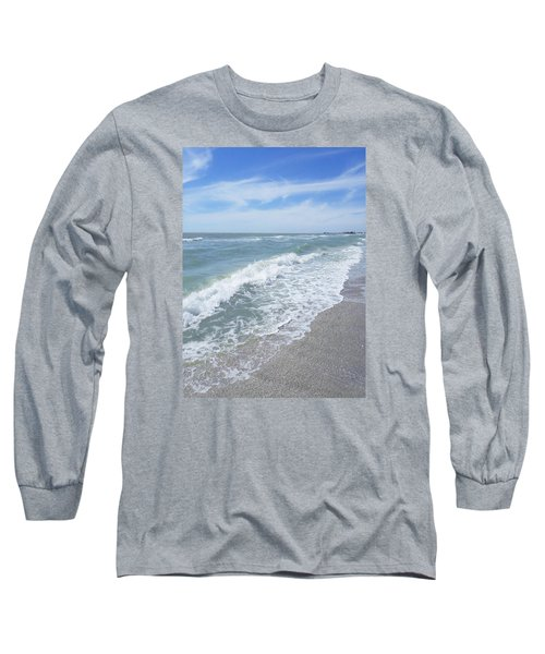 Long Sleeve T-Shirt featuring the photograph Sand, Sea, Sun, No.2 by Ginny Schmidt
