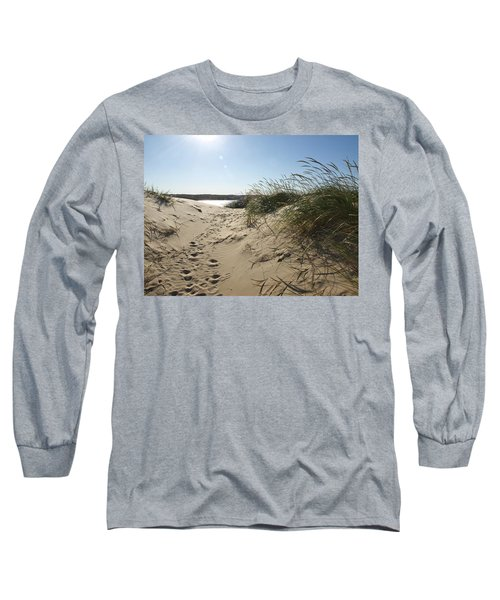 Sand Tracks Long Sleeve T-Shirt by Tara Lynn