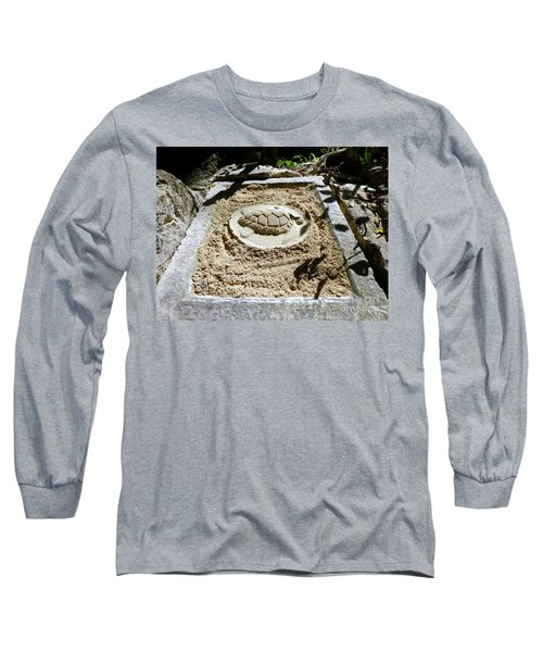 Long Sleeve T-Shirt featuring the photograph Sand Turtle Print by Francesca Mackenney