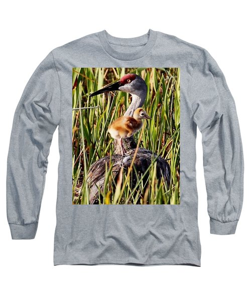 Sandhill Crane And Colt Long Sleeve T-Shirt