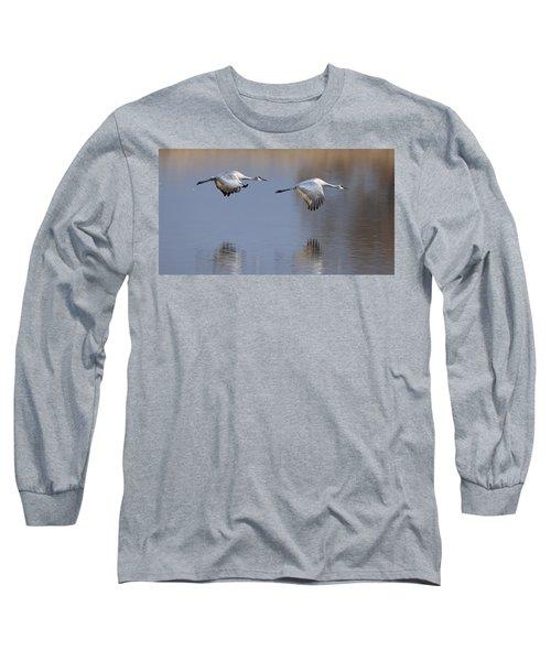 Sandhill Crane Returning Long Sleeve T-Shirt