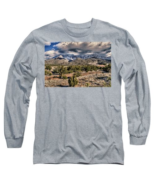 Long Sleeve T-Shirt featuring the photograph Sandia Mountain Landscape by Alan Toepfer