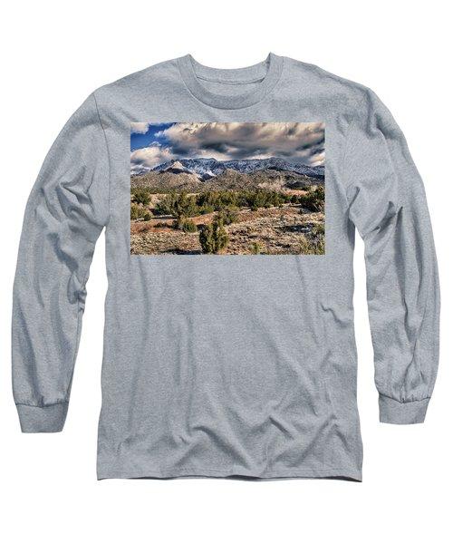Sandia Mountain Landscape Long Sleeve T-Shirt by Alan Toepfer