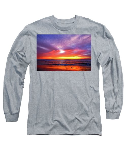 Sandpiper Sunset Ventura California Long Sleeve T-Shirt