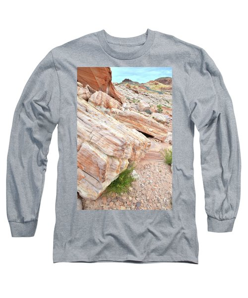 Long Sleeve T-Shirt featuring the photograph Sandstone Along Park Road In Valley Of Fire by Ray Mathis