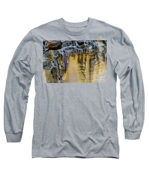 Long Sleeve T-Shirt featuring the photograph Sandstone Detail Syd01 by Werner Padarin