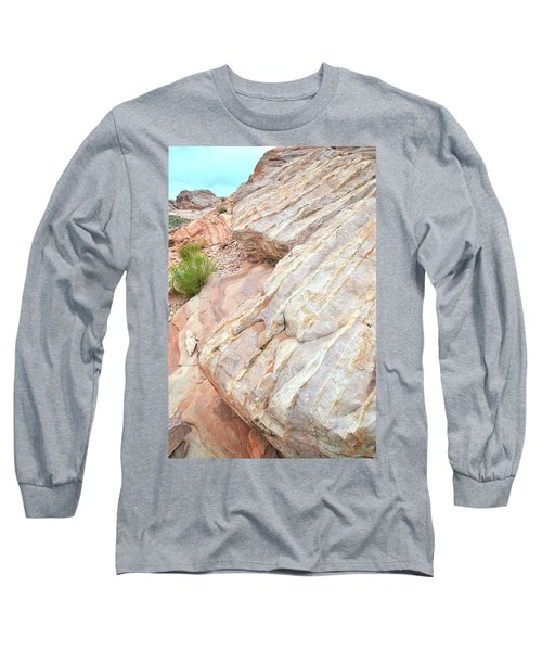 Long Sleeve T-Shirt featuring the photograph Sandstone Feet In Valley Of Fire by Ray Mathis