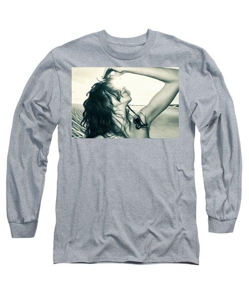 Sandy Dune Nude - The Woman Long Sleeve T-Shirt