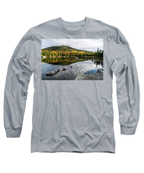 Reflection Sandy Stream Pond Me. Long Sleeve T-Shirt