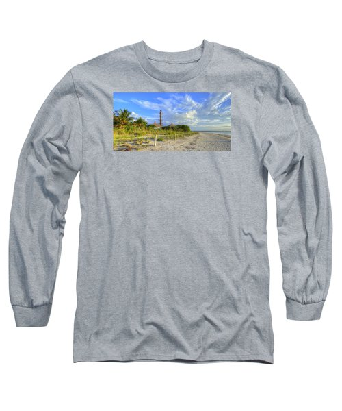 Sanibel Light House Long Sleeve T-Shirt by Sean Allen